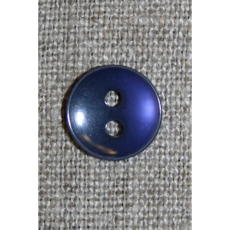 Blå-lilla 2-huls knap, 13 mm.-33