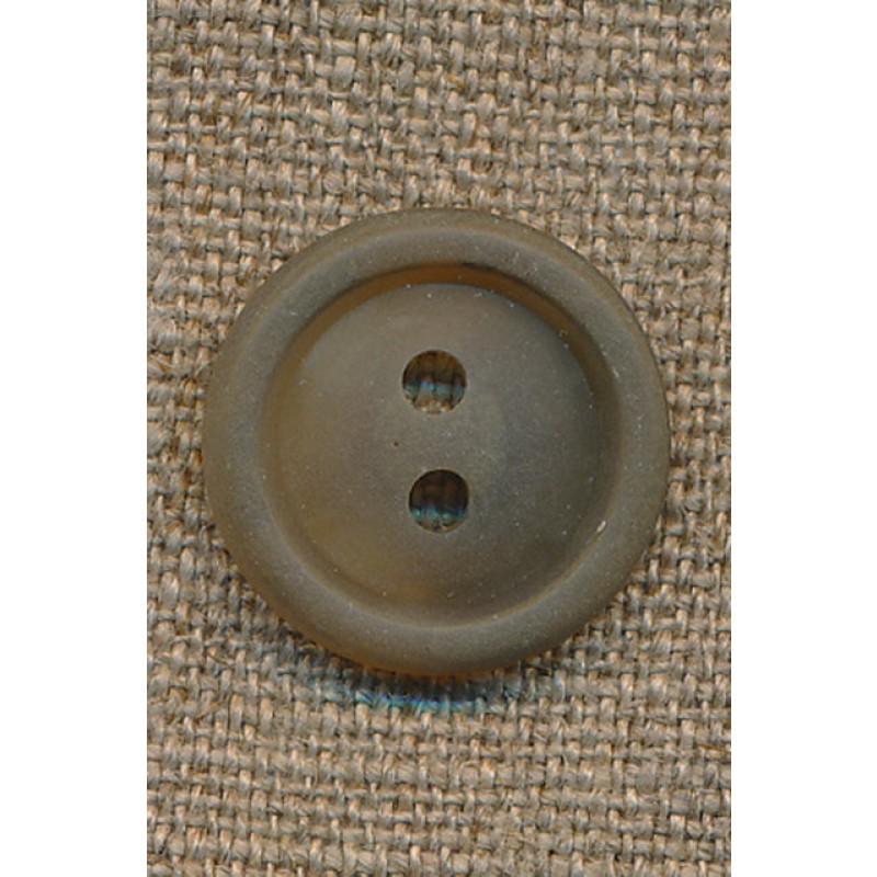 Lysebrun knap m/kant, 20 mm.-31