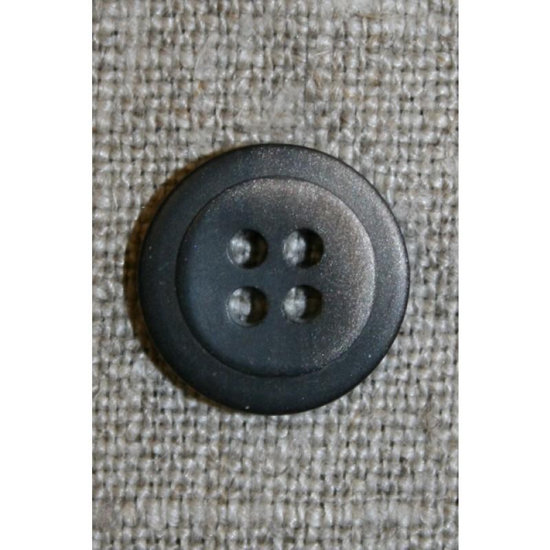 4-huls knap m/skygge mørkebrun/beige, 15 mm.-31