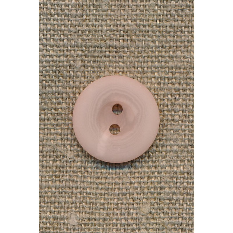 2-huls knap lys rosa, 18 mm.-33