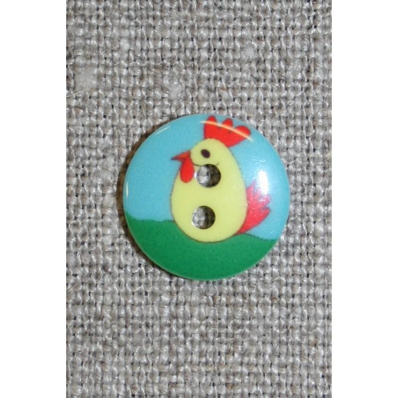 2-huls knap m/hane-31