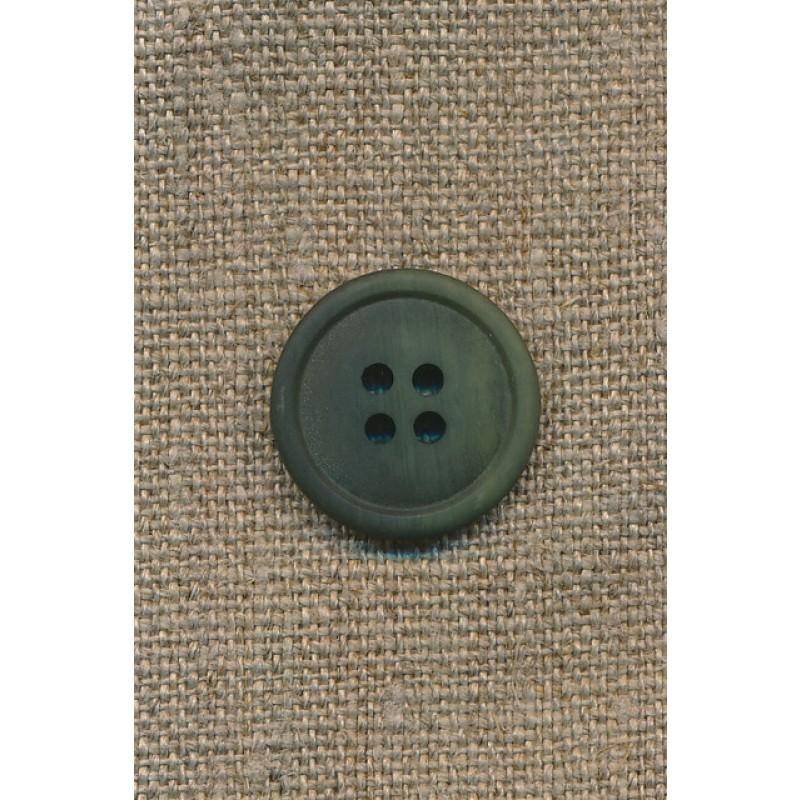 4-huls knap grøn 20 mm.