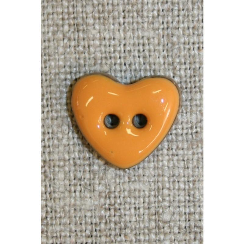 Kokos-knap m/emalje, hjerte carry 15 mm.-35
