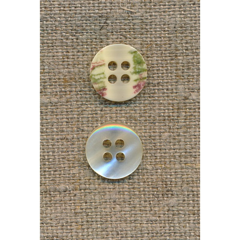 4-huls knap off-white perlemors-look 12 mm.-35