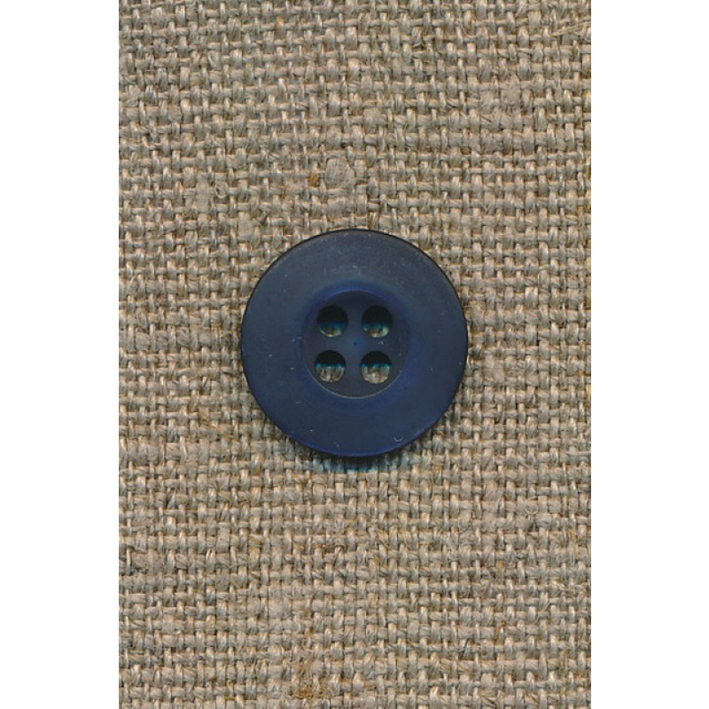 Mørk blå 4-huls knap, 15 mm.-33