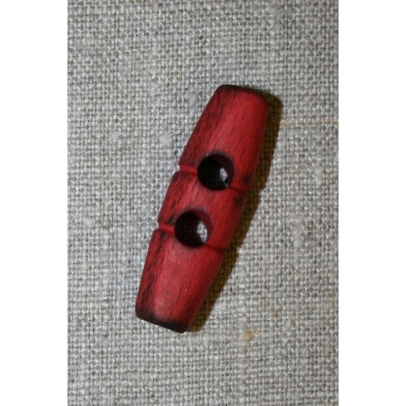 Aflang træknap/knebel 40 mm. rød-35