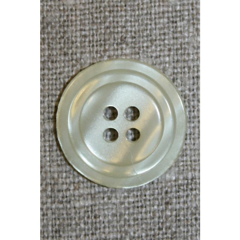 4-huls knap m/cirkel, lys lysegrøn-35