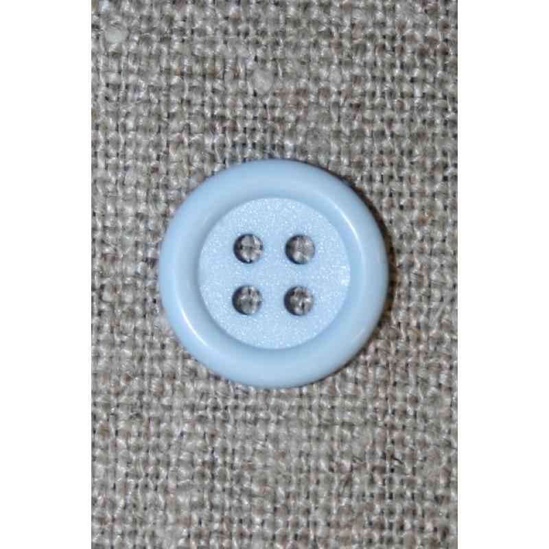 4-huls knap babylyseblå, 14 mm-33