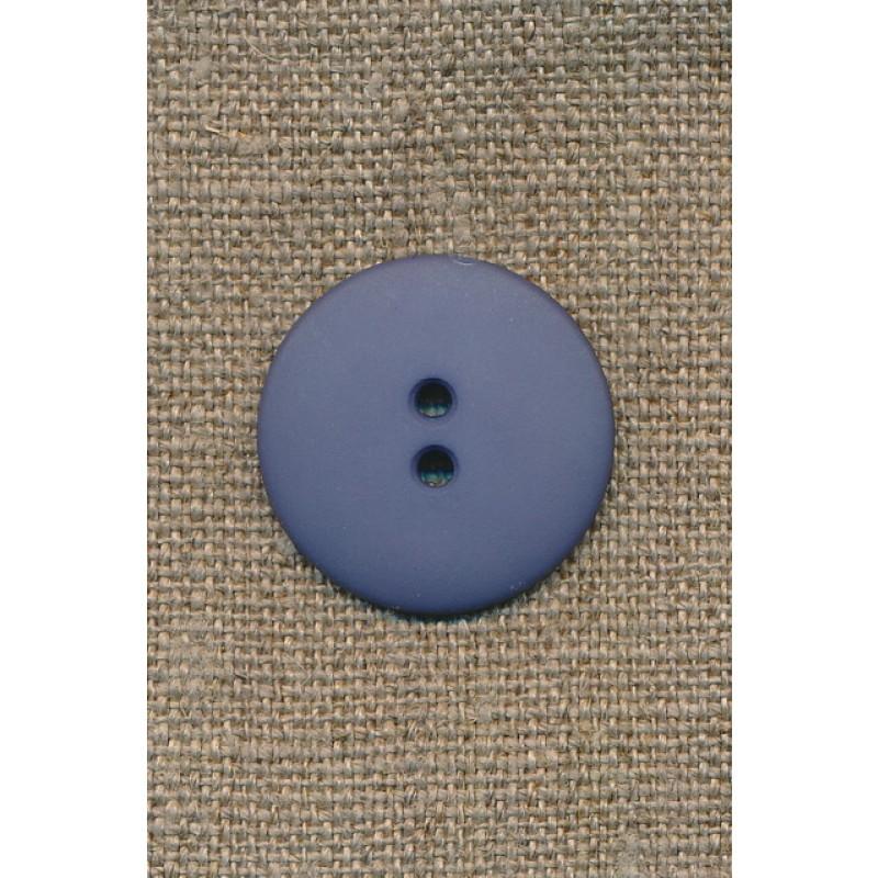 2-huls knap støvet blå/denim, 25 mm.-31
