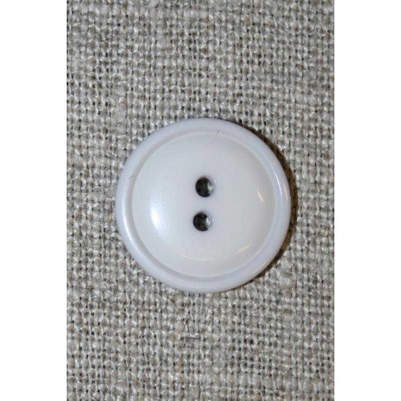 Lys lysegrå 2-huls knap, 18 mm.-35