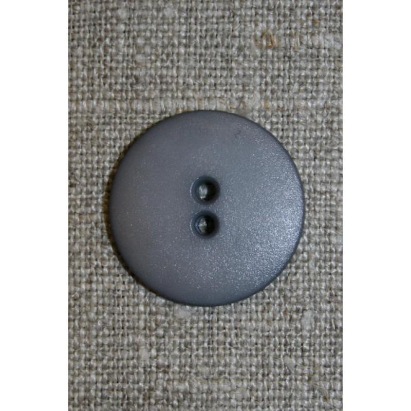 Grå 2-huls knap, 22 mm.-31