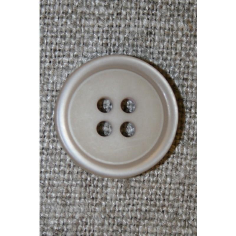 4-huls knap beige/kit 15 mm.-33