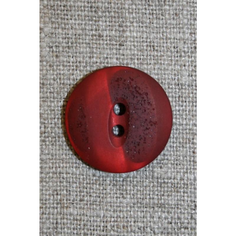 2-huls knap meleret/krakeleret rød/mørkerød, 20 mm.-31