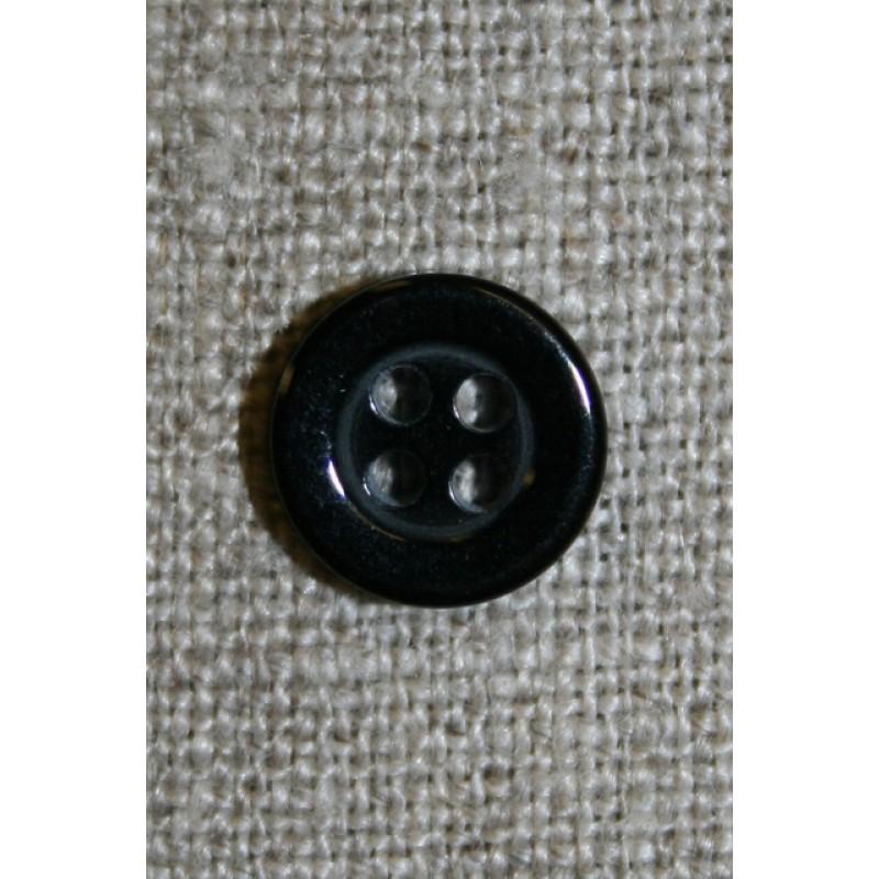 4-huls knap sort 11 mm.-31
