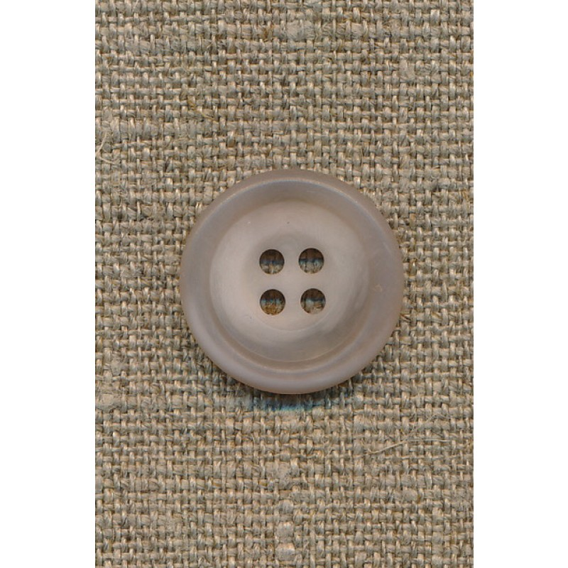 4-huls knap sand/klar, 20 mm.-31
