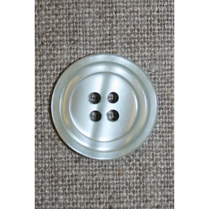 4-huls knap m/cirkel, lysegrå/kit-33