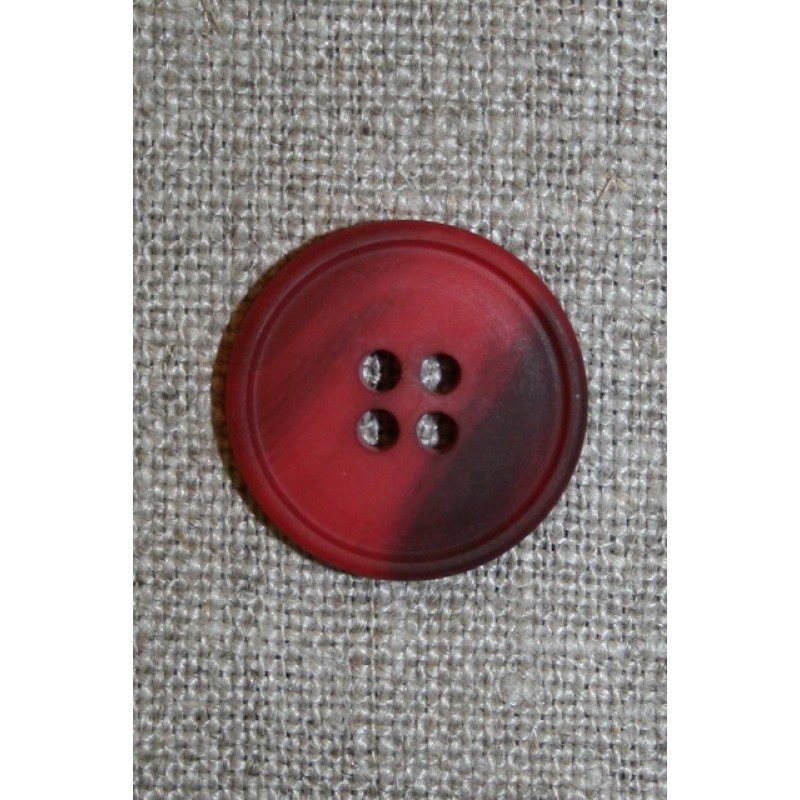 4-huls knap meleret hindbærrød/bordeaux 20 mm.-31