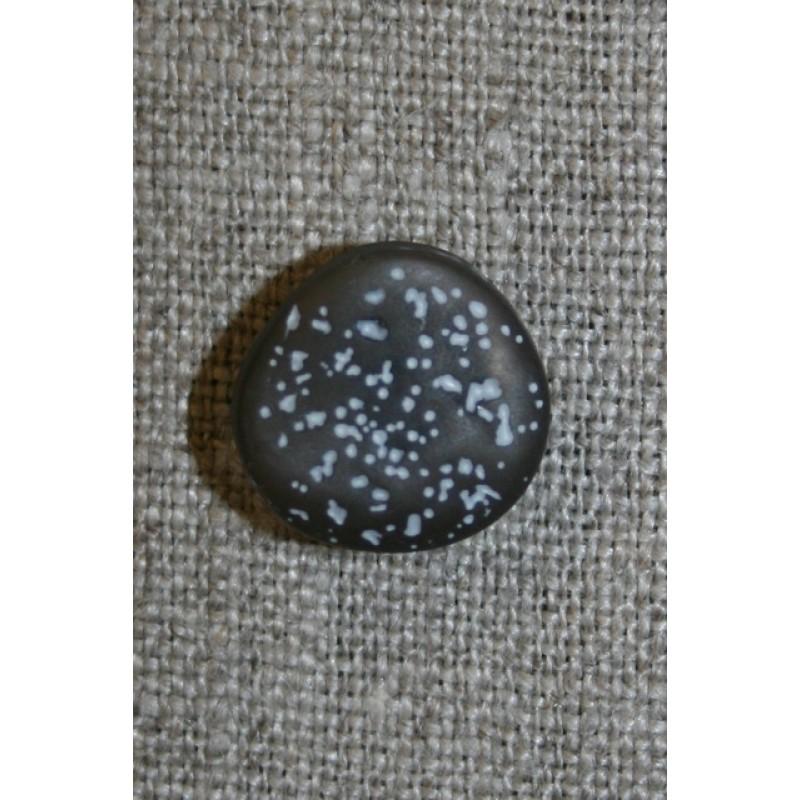 Knap i sten-look, koksgrå 15 mm