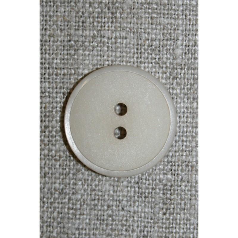2-huls knap kit/lysegrå, 20 mm.