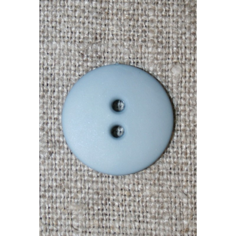 2-huls knap støvet lyseblå 18 mm.-35