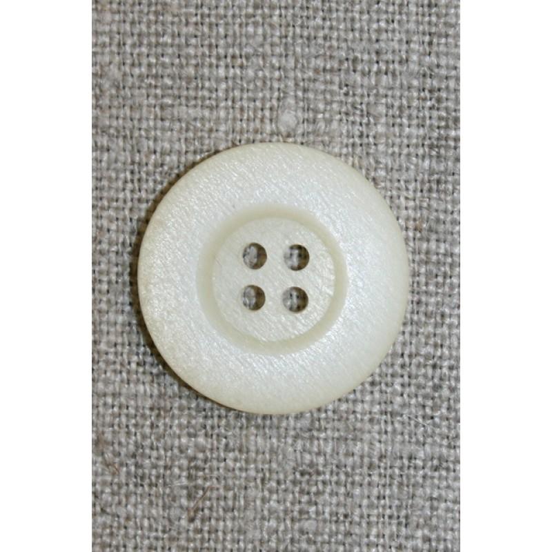 4-huls knap off-white, 23 mm.-33