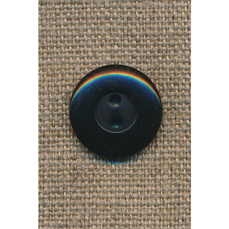 2-huls knap sort, 18 mm.