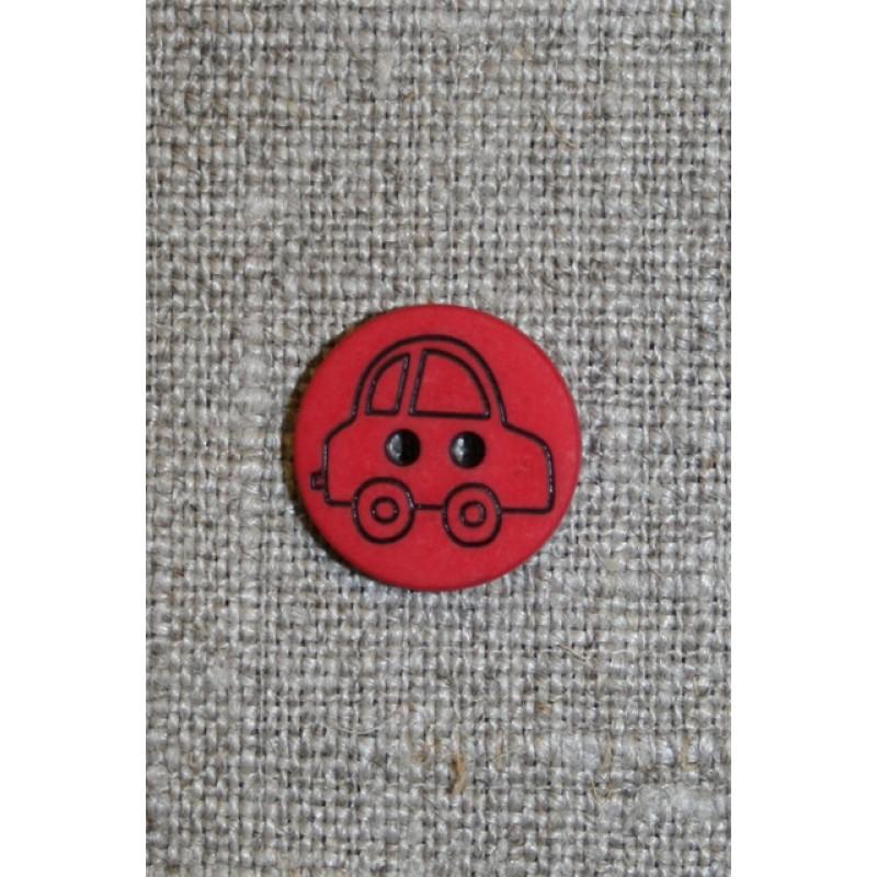 Knap m/bil rød/sort-31