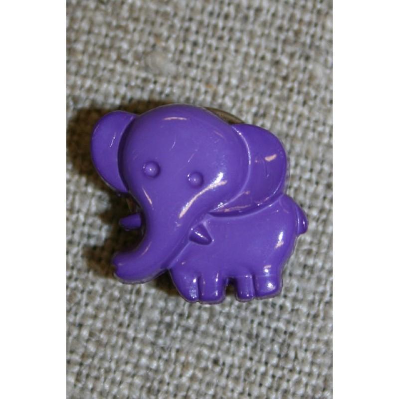 Knap m/elefant, lilla-35