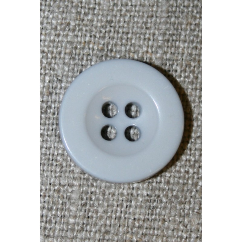 Lys lysegrå 4-huls knap, 18 mm.-35