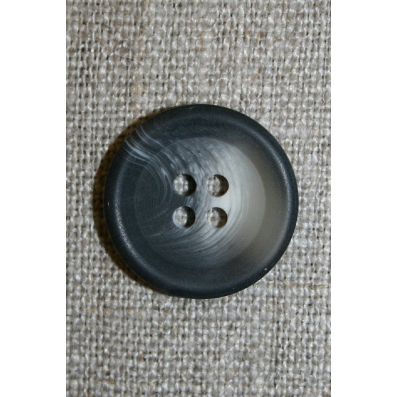 4-huls knap meleret koksgrå/lysegrå 20 mm.-35