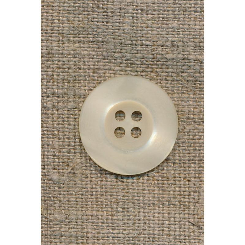 Off-white 4-huls-knap, 20 mm.-35