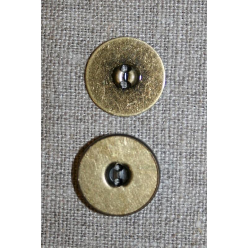 Magnet knap oxyderet 18 mm.-33