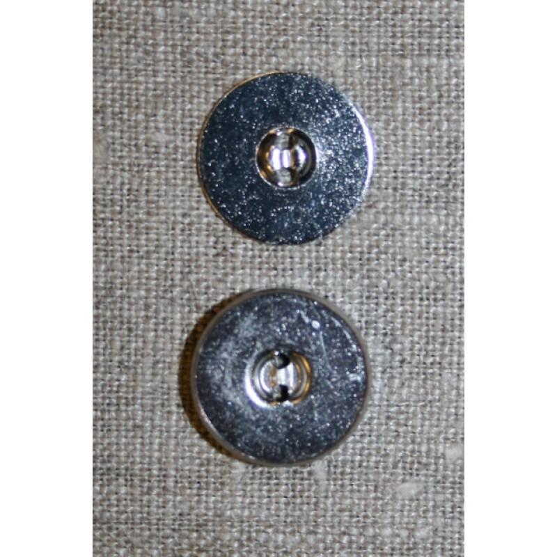 Magnet knap sølv 18 mm.