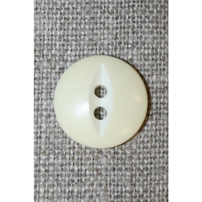 Knap lysegul m/hvid, 15 mm.-33