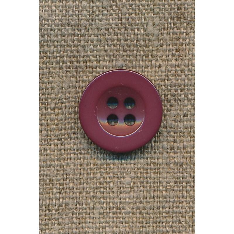 4-huls knap mørk brun-rosa-31