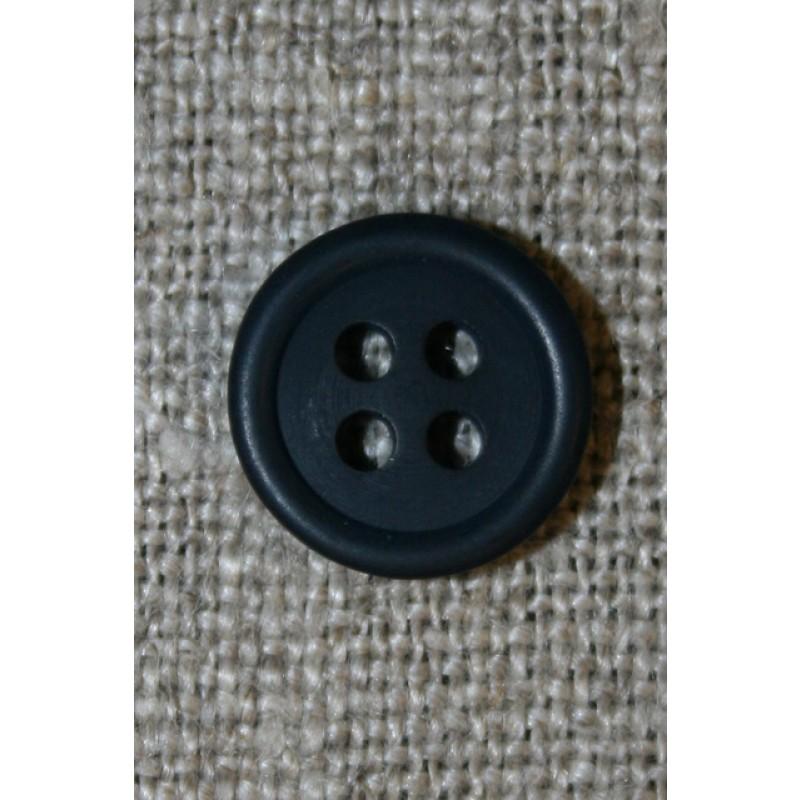 Lille støvet mørkeblå 4-huls knap, 12 mm.-33