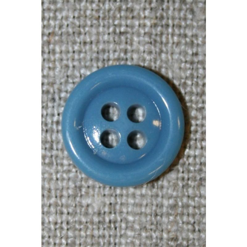 4-huls knap 13 mm, lys petrol-35