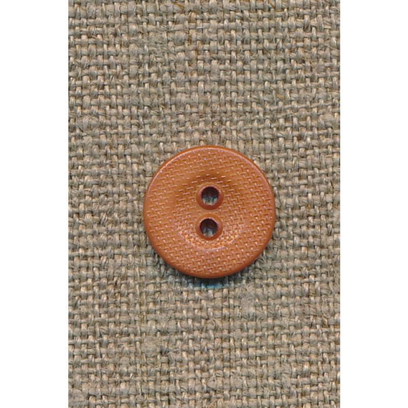 2-huls knap lys brændt orange/brun 14 mm.-35