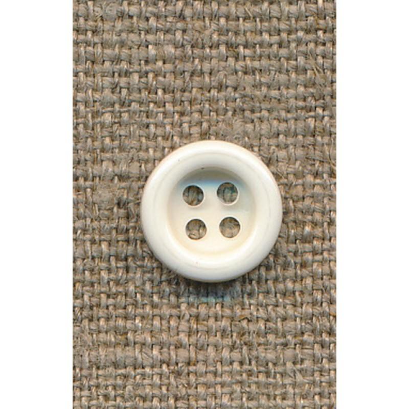 4-huls knap knækket hvid 11 mm.-33