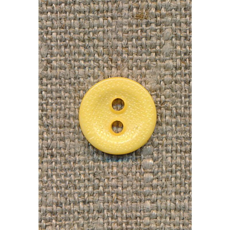 2-huls knap gul 12 mm.