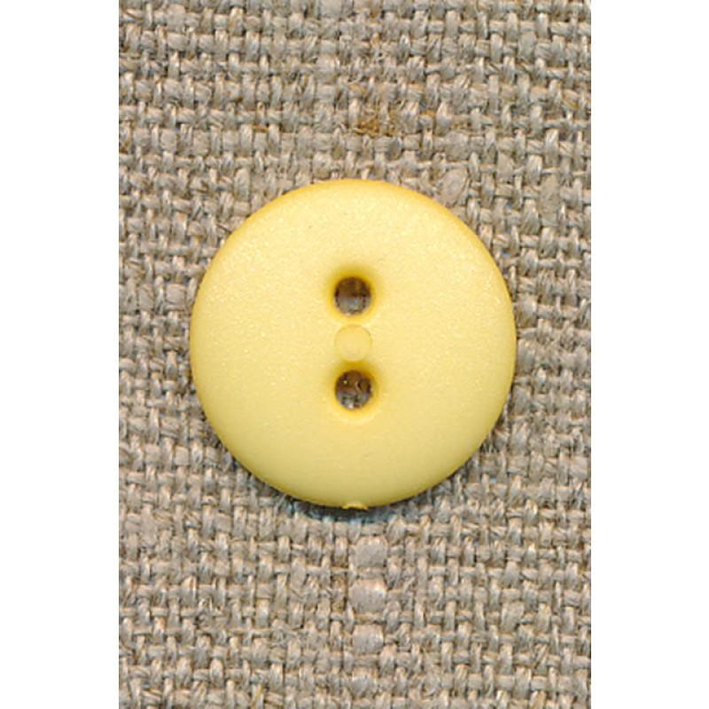 2-huls knap lys gul 15 mm.-31