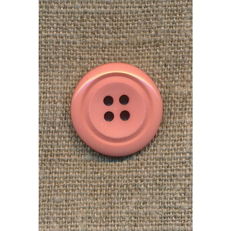 Lys rosa 4-huls knap m/kant, 23 mm.-31