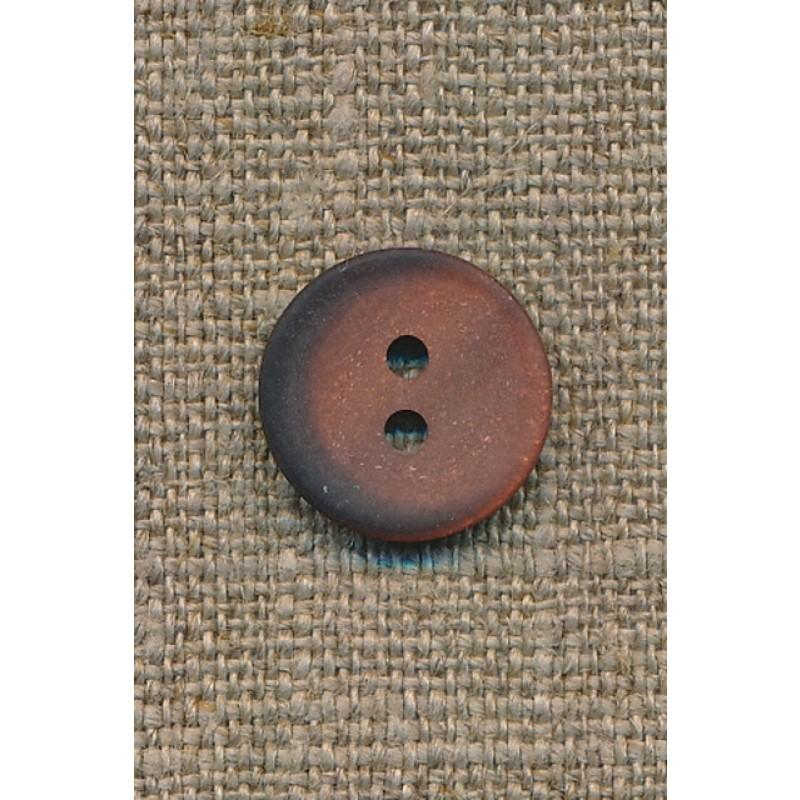 2-huls knap pudder-brun m/skygge, 15 mm.-31