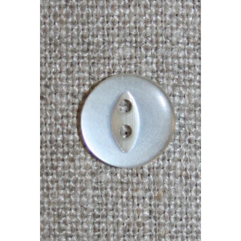 Blank 2-huls knap off-white 12 mm.-33
