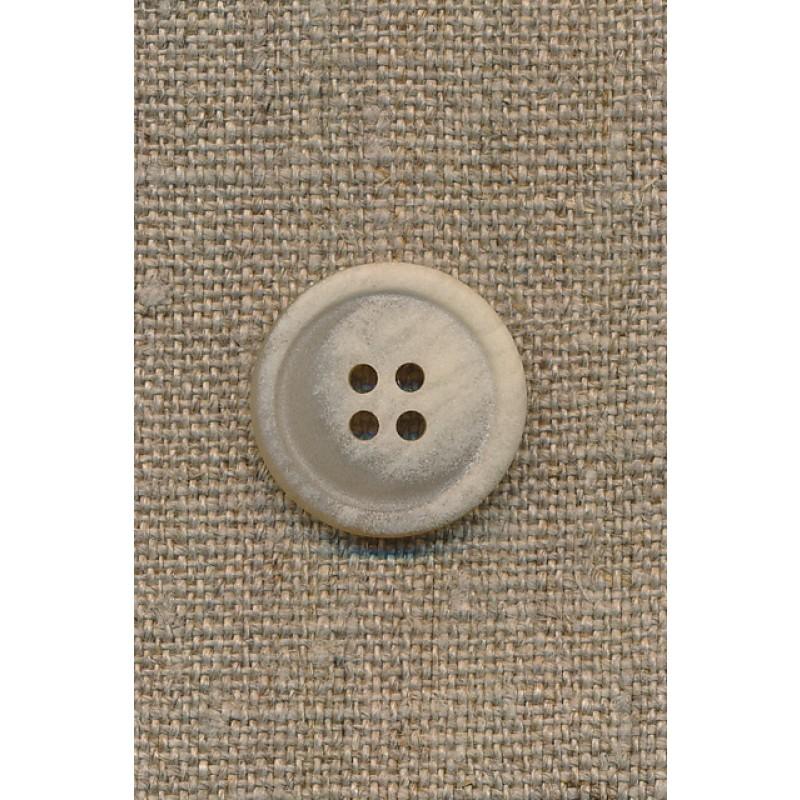 4-huls knap sand meleret, 20 mm.-35