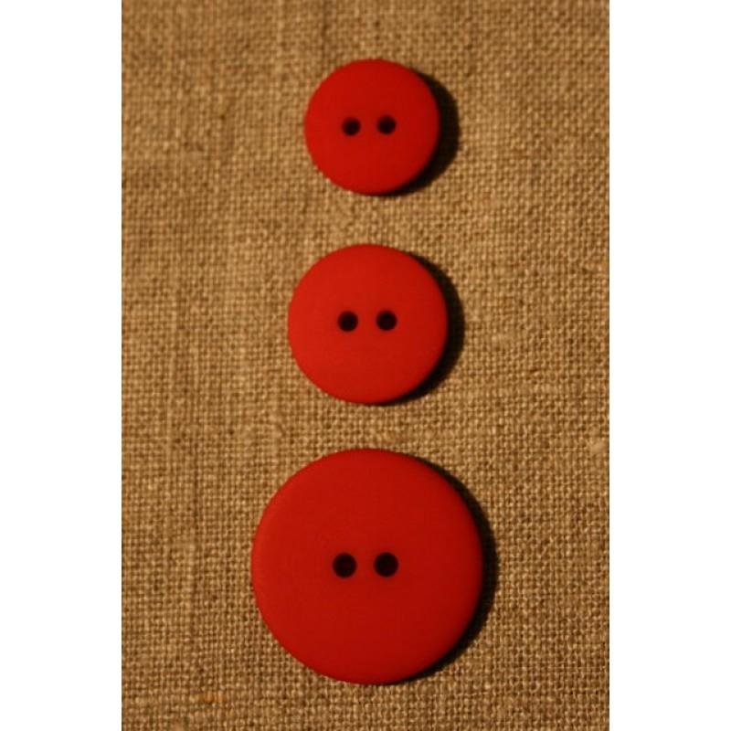 Rød 2-huls knap, 18 mm.-31