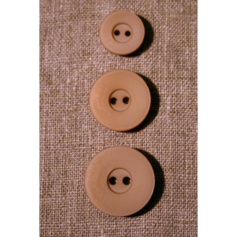 Beige 2-huls-knap, 23 mm.-33