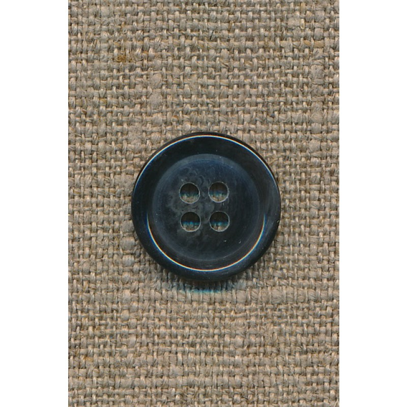 4-huls knap mørkeblå meleret, 18 mm.-31