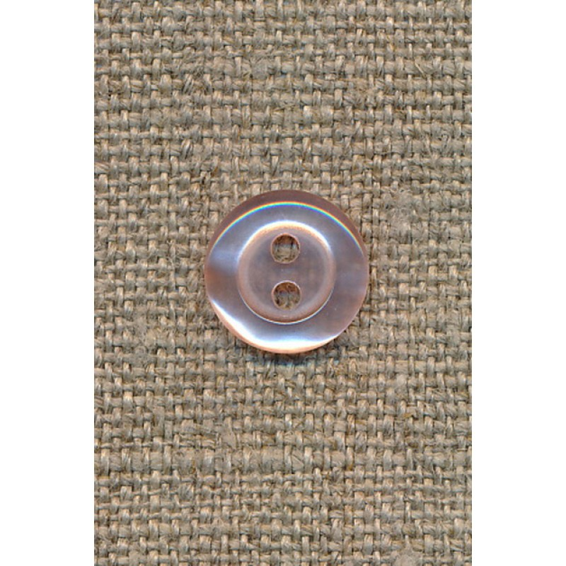 Blank 2-huls knap babylyserød, 11 mm.