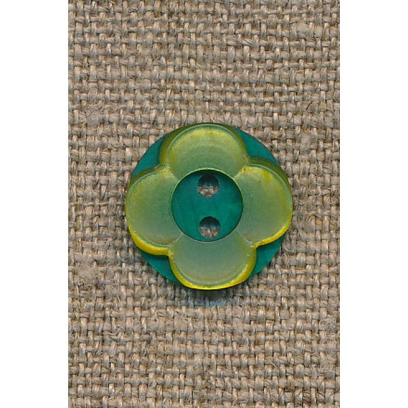 Blomster knap lime/grøn-35